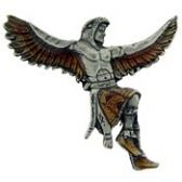 EAGLE NATIVE INDIAN CHIEF LAPEL PIN